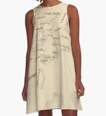 Vintage Style shipping forecast key A-Line Dress