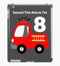 Fire Truck Sound The Alarm I'm 8! iPad Case/Skin