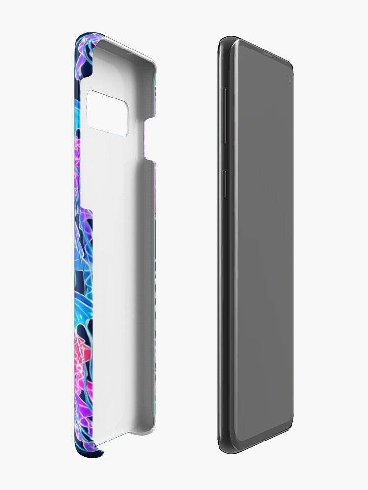 Alternate view of Luminescent Rainbow Jellyfish on Navy Blue Case & Skin for Samsung Galaxy