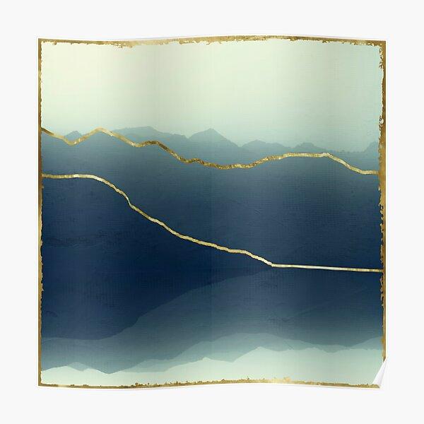 Gold Framed Alps Poster