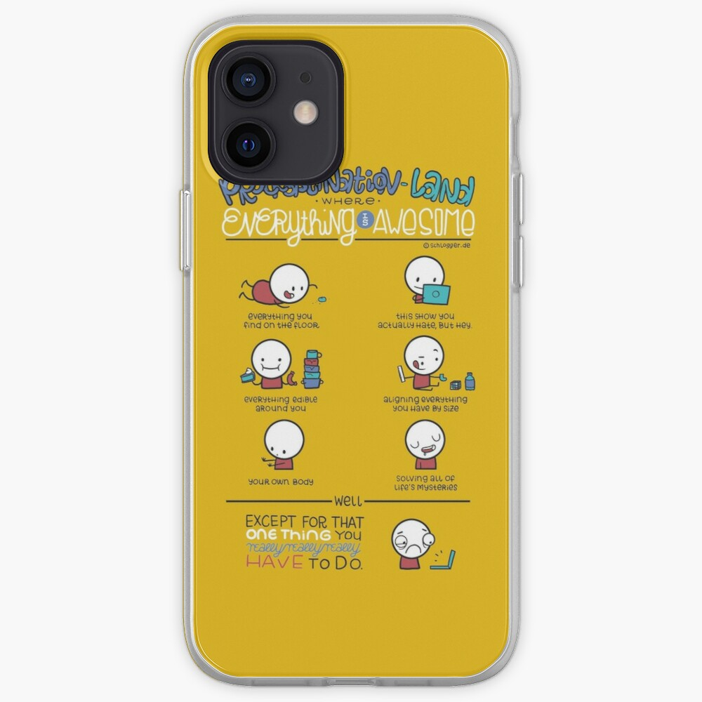 Procrastination makes everything awesome iPhone Case & Cover