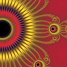 «Sol deslumbrante devorando la noche en su ojo» de lucielitchi