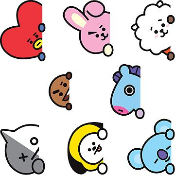 BT21 Sticker Set Ver. 2 by ZeroKara