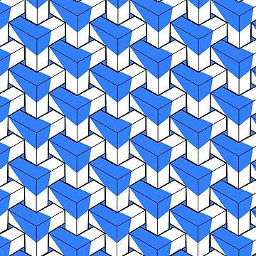 Simple Geometric Pattern - Blue by Jake1515