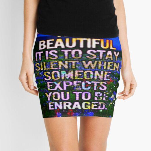 Stay Silent Mini Skirt