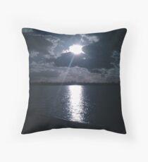 Sun over a lake at Wave Rock, Western Australia Floor Pillow