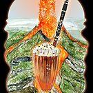 Volcanic Clarinet Chocolate Oreo Musical Milkshake by MissMusica