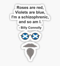 Billy Connolly glasses and quote Sticker