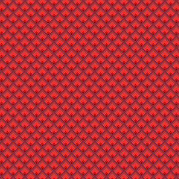 Repeating Simple Red Peacock Feathered Pattern - Red by Jake1515