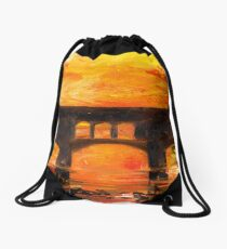 Shadows on the River Drawstring Bag
