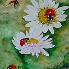 LADYBIRDS and DAISIES by Marilyn Grimble