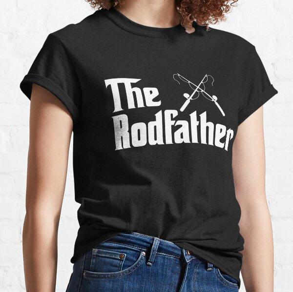 Rodfather Fishing T Shirt Mens Tshirt Gray T-Shirt GodFather Novelty Large 3XL