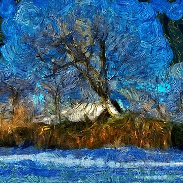 A digital painting in the style of the masters of a Romanian Winter (2) by ZipaC