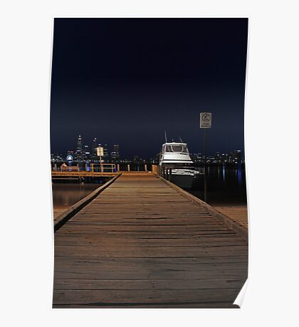 Coode St Jetty - Perth Western Australia  Poster