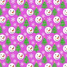 Snowmen Christmas Festive Novelty Pattern by Artification