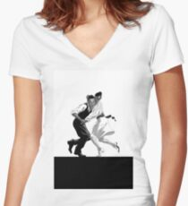 Dancing Women's Fitted V-Neck T-Shirt