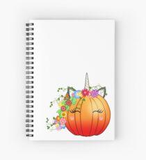 Unicorn Pumpkin  Spiral Notebook