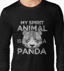 Panda Spiritual Animal Long Sleeve T-Shirt