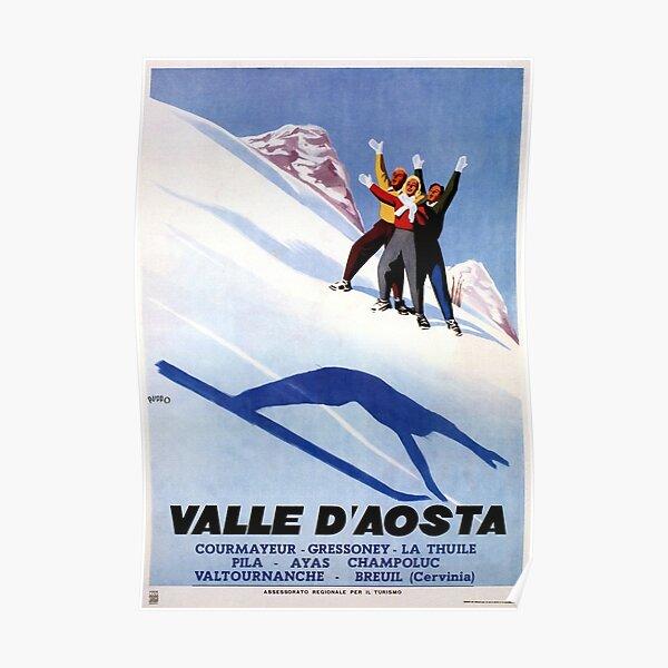 Skis Ski Trail Norway Winter Sport Norwegian Europe Vintage Poster Repo FREE S//H