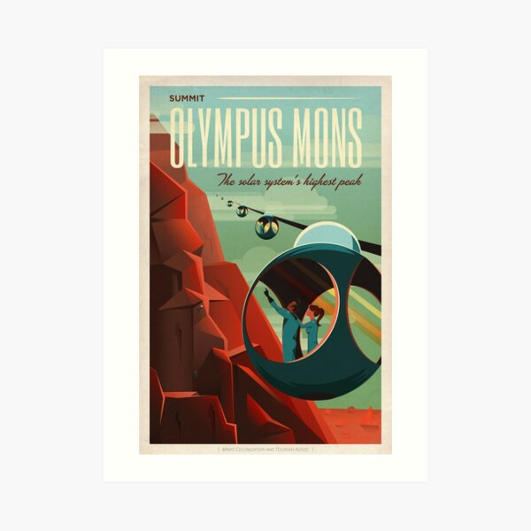 Summit Olympus Mons Art Print