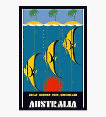 Great Barrier Reef Australia travel advertising Photographic Print