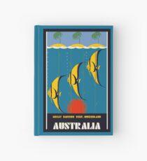 Great Barrier Reef Australia travel advertising Hardcover Journal