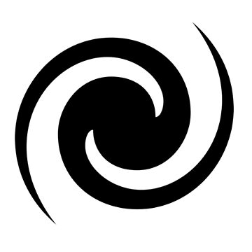 BLACK SPIRAL, Whirlpool, Vortex by TOMSREDBUBBLE
