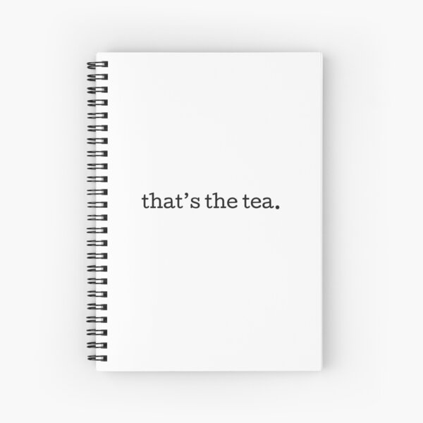 That's the Tea Spiral Notebook