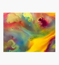 watercolor abstraction painting - colored 2 Photographic Print