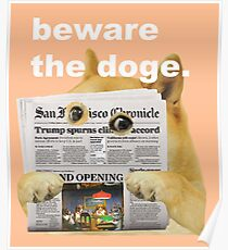 Beware the doge. Poster
