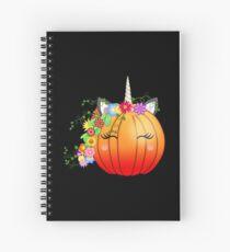 Unicorn Pumpkin after hours Spiral Notebook