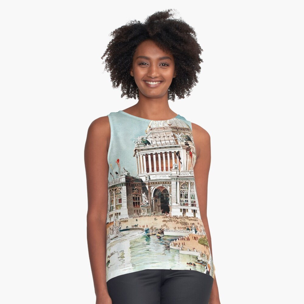 Vintage 1893 Chicago World's fair expo  Contrast Tank Front