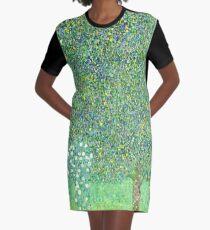 HD. Rosebushes under the Trees, by Gustav Klimt . HIGH DEFINITION Graphic T-Shirt Dress