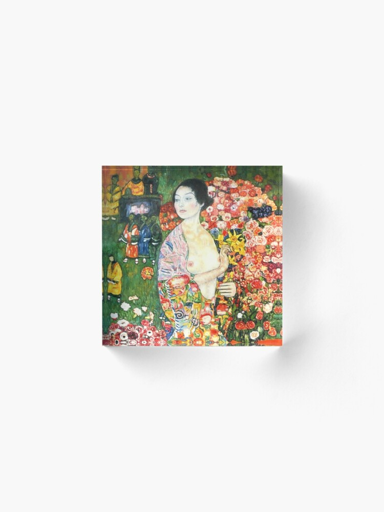 Alternate view of HD. The dancer, by Gustav Klimt . HIGH DEFINITION Acrylic Block