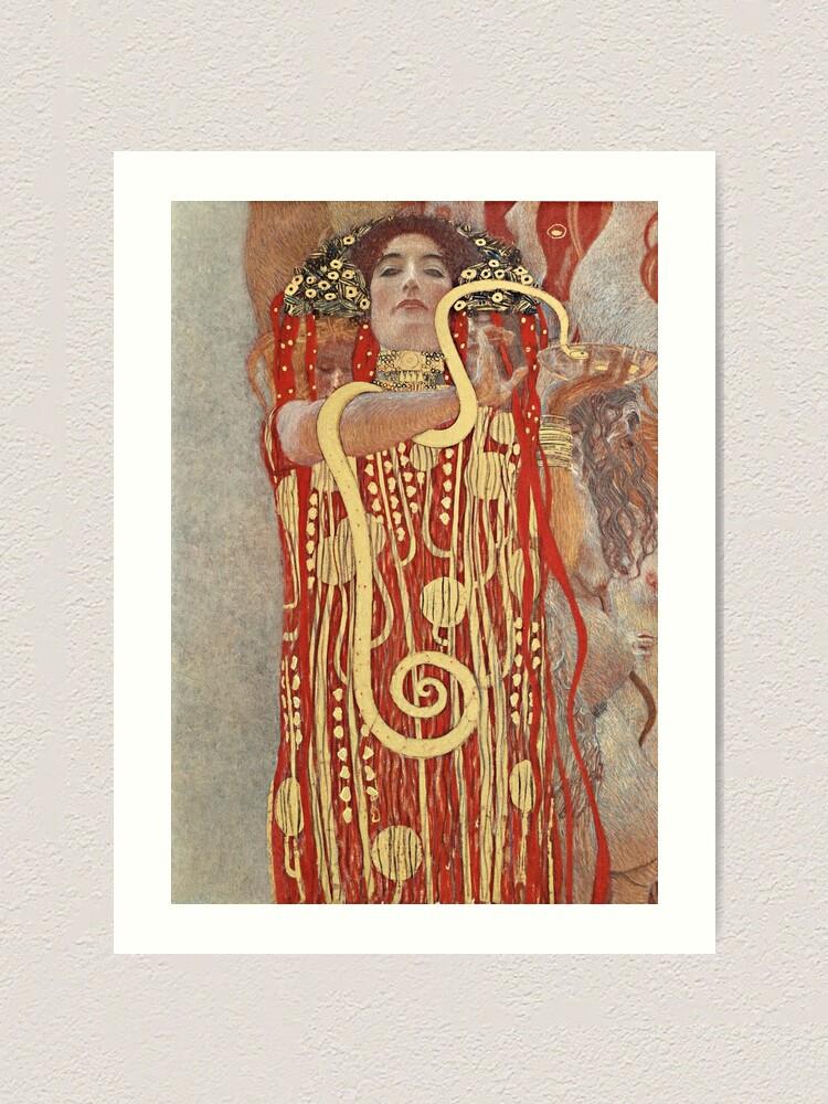 Alternate view of HD. Medicine, by Gustav Klimt . HIGH DEFINITION Art Print