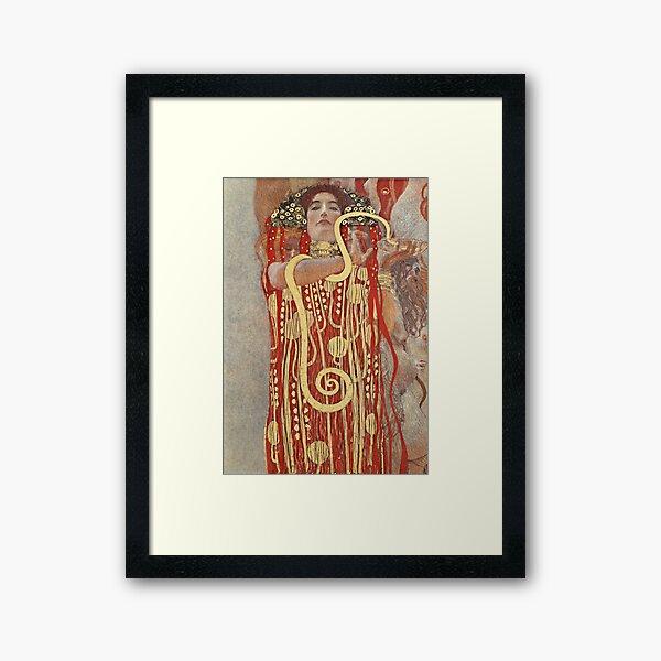 HD. Medicine, by Gustav Klimt . HIGH DEFINITION Framed Art Print