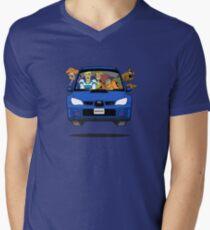 Camiseta de cuello en V Subaru Impreza WRX Scooby Doo
