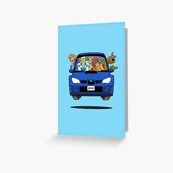 Subaru Impreza WRX Scooby Doo Greeting Card
