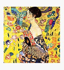 HD. Lady with fan, by Gustav Klimt . HIGH DEFINITION Photographic Print