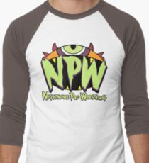 Nightmare Pro Wrestling - 2015 Logo Men's Baseball ¾ T-Shirt