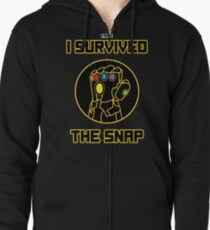 I SURVIVED THE SNAP Zipped Hoodie