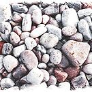 Pebbles on the Beach by Philippe Sainte-Laudy