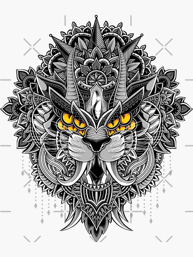 Tiger Mandala by GODZILLARGE
