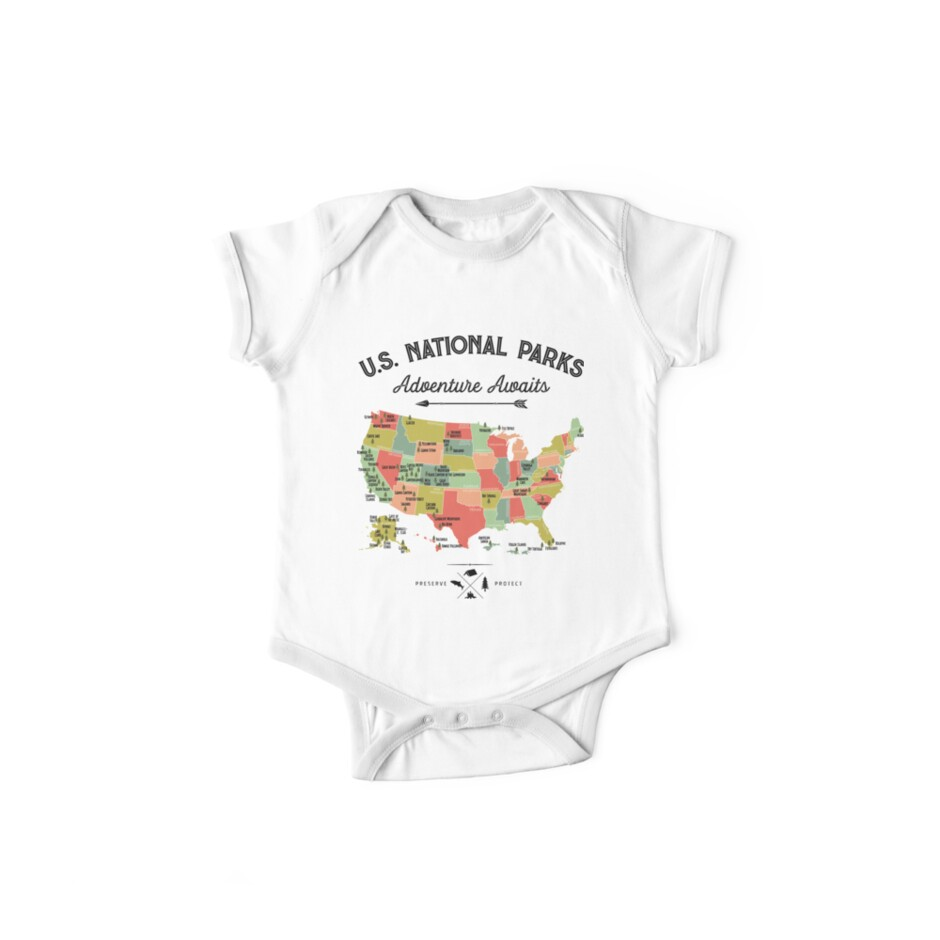 «National Park Map Vintage T Shirt - Los 59 Parques Nacionales Regalos T-shirt Hombres Mujeres Niños» de LiqueGifts