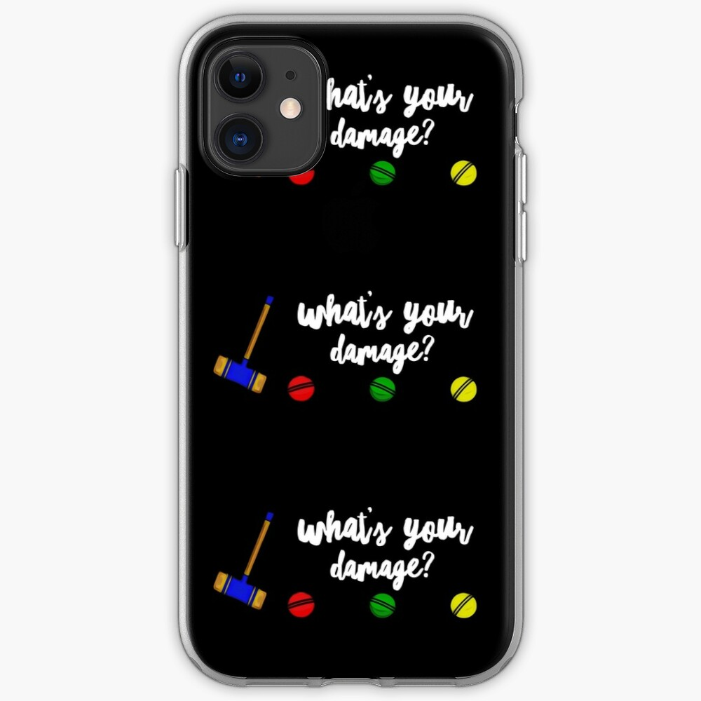 What's Your Damage? iPhone Case & Cover