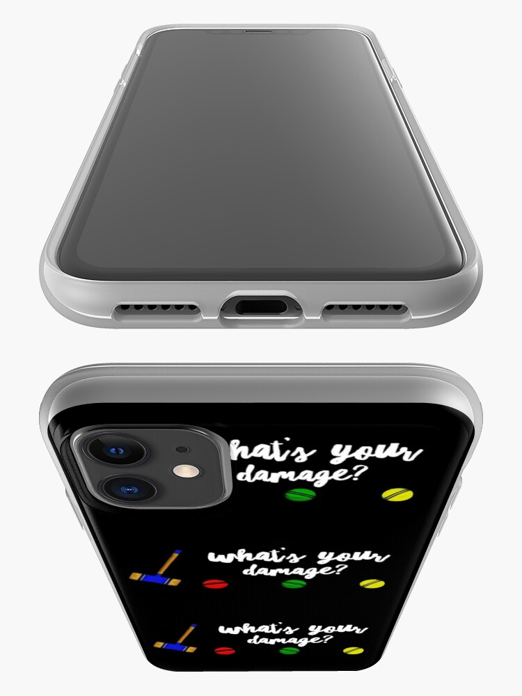 Alternate view of What's Your Damage? iPhone Case & Cover