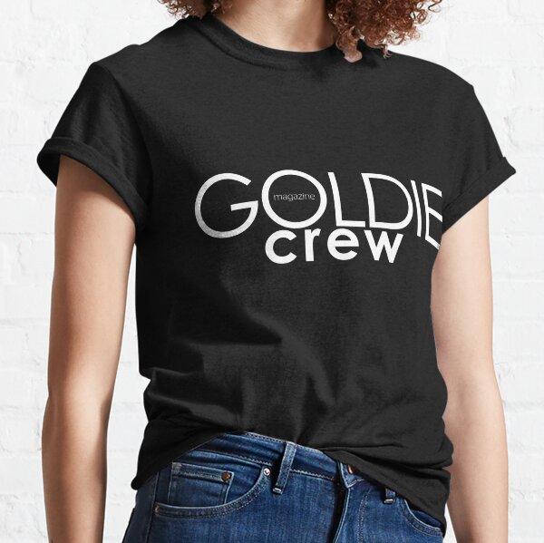 GOLDIE magazine. Goldie crew white on black Classic T-Shirt