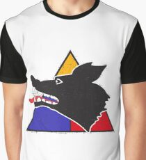 """15th Tank Battalion """"Wolfpack"""" - Grunge Style Graphic T-Shirt"""