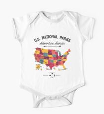 Nationalpark Karte Vintage T-Shirt - Alle 59 Nationalparks Geschenke T-Shirt Männer Frauen Kinder Baby Body Kurzarm