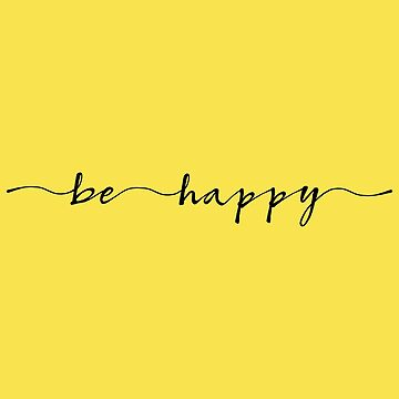 be happy ink lettering by beakraus